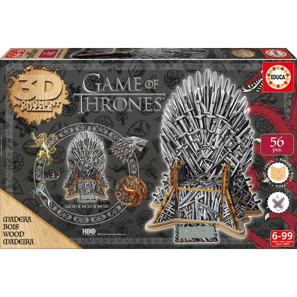 Puzzle 3d 3D puzzel Game of Thrones