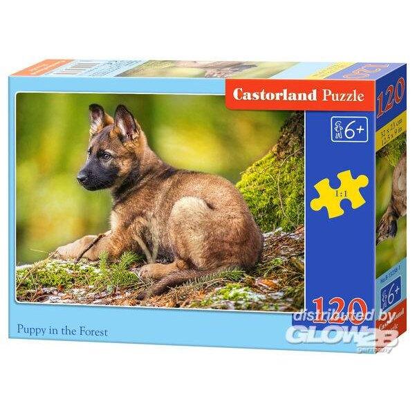 Puppy in het bos Puzzel 120 Stuks