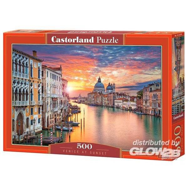 Zonsondergang in Venetië Puzzel 500 Stuks