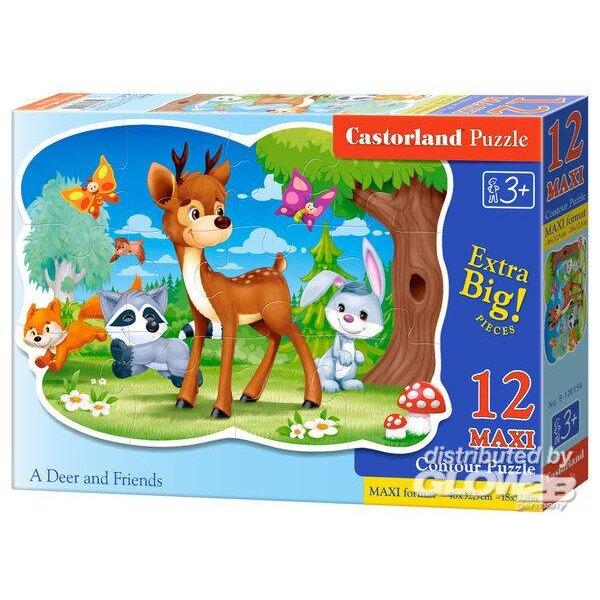 Het hert en zijn bosvriendjes Puzzel 12 Stuks