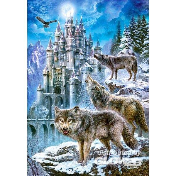 Wolven bij het kasteel Puzzel 1500 Stuks