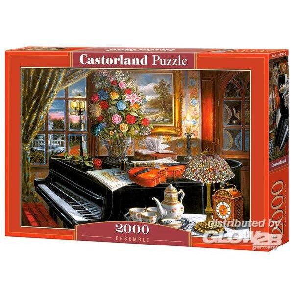 Piano in een aangekleed huis Puzzel 2000 Stuks