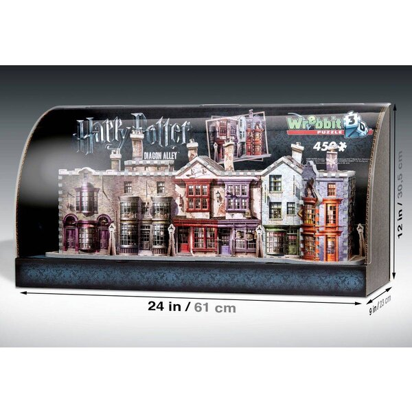 Harry Potter Built-Up Demo 3D Puzzle in Display Case Diagon Alley Puzzle 3d 450 Stuks