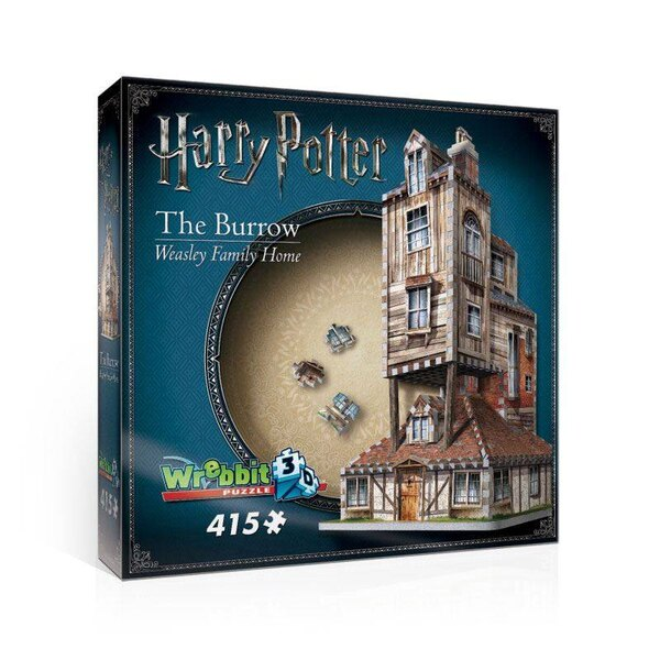 Harry Potter 3D Puzzle The Burrow (Weasley Family Home) Puzzle 3d 415 Stuks