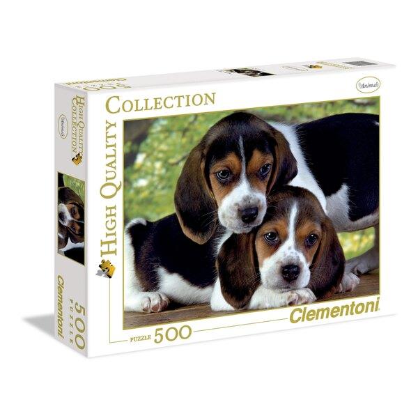 Twee hondjes samen bij elkaar Puzzel 500 Stuks