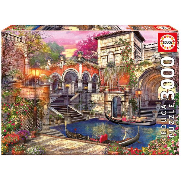 Romantiek in Venetië Puzzel 3000 Stuks
