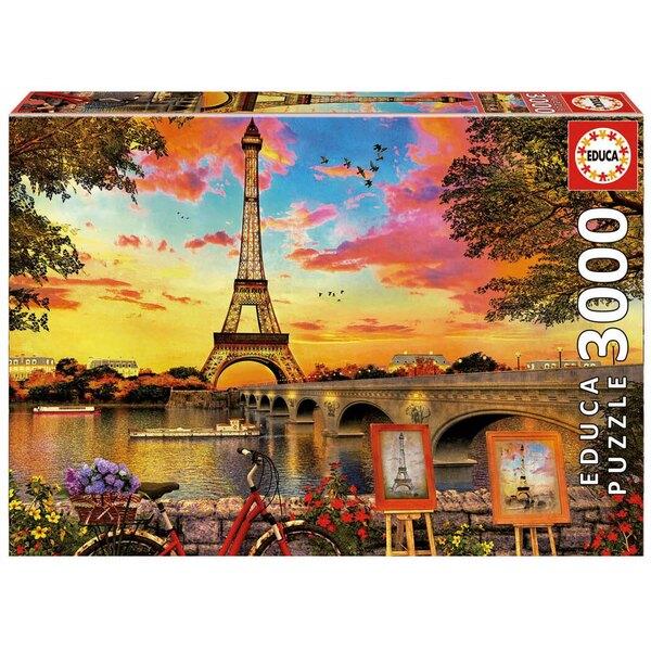 Zonsondergang in Parijs Puzzel 3000 Stuks
