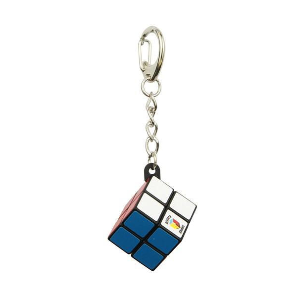 Simpele kubus sleutelhanger - karabijnhaak